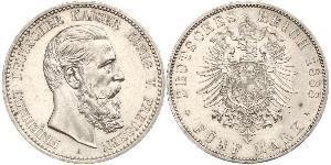 5 Mark Royaume de Prusse (1701-1918) Argent Frédéric III (Empire allemand) (1831-1888)