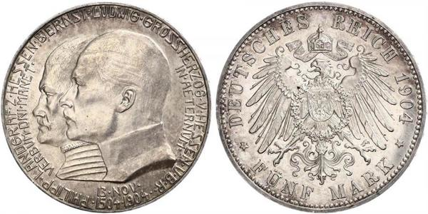 5 Mark Assia-Kassel (1567 - 1806) Argento Ernesto Luigi d