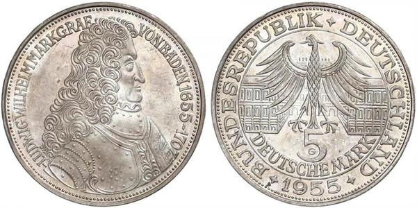 5 Mark Germania Argento