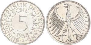 5 Mark Germania Ovest (1949-1990) Argento
