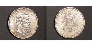5 Mark Regno di Prussia (1701-1918) Argento Federico III di Germania (1831-1888)