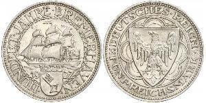 5 Mark Repubblica di Weimar (1918-1933) Argento