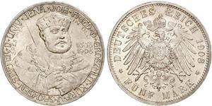 5 Mark Sassonia-Weimar-Eisenach (1809 - 1918) Argento