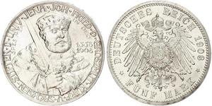 5 Mark Sassonia-Weimar-Eisenach (1809 - 1918) Argento