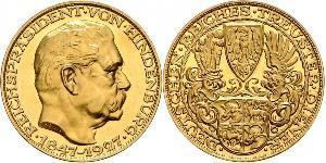 5 Mark Weimar Republic (1918-1933) Gold Paul von Hindenburg