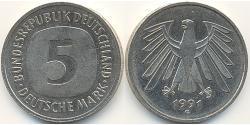 5 Mark Deutschland Kupfer/Nickel