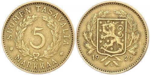 5 Mark Finlande (1917 - ) Laiton