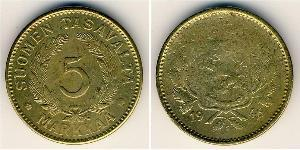 5 Mark Finlandia (1917 - ) Latón