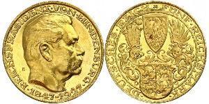 5 Mark República de Weimar (1918-1933) Oro Paul von Hindenburg