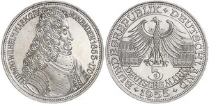 5 Mark Alemania Plata