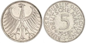 5 Mark Alemania Occidental (1949-1990) Plata