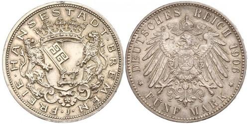 5 Mark Bremen (estado) Plata