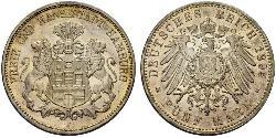 5 Mark Hamburgo / Imperio alemán (1871-1918) Plata