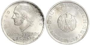 5 Mark Imperio alemán (1871-1918) Plata Gotthold Ephraim Lessing