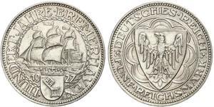 5 Mark República de Weimar (1918-1933) Plata