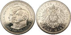 5 Mark Anhalt-Dessau (1603 -1863) Silber Friedrich II. (Anhalt)(1856 – 1918)
