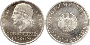 5 Mark Deutsches Kaiserreich (1871-1918) Silber Gotthold Ephraim Lessing