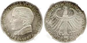 5 Mark Geschichte der Bundesrepublik Deutschland (1949-1990) Silber Joseph von Eichendorff
