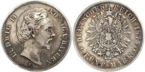 5 Mark Königreich Bayern (1806 - 1918) Silber Ludwig II. (Bayern)(1845 – 1886)