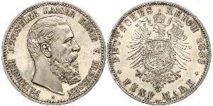 5 Mark Königreich Preußen (1701-1918) Silber Friedrich III. (Deutsches Reich) (1831-1888)