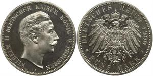 5 Mark Königreich Preußen (1701-1918) Silber Wilhelm II, German Emperor (1859-1941)