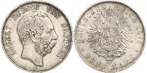 5 Mark Königreich Sachsen (1806 - 1918) Silber Albert (Sachsen)