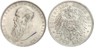 5 Mark Duchy of Saxe-Meiningen (1680 - 1918) Silver Georg II, Duke of Saxe-Meiningen