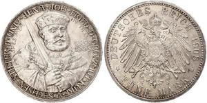 5 Mark Grand Duchy of Saxe-Weimar-Eisenach (1809 - 1918) Silver
