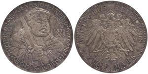 5 Mark Grand Duchy of Saxe-Weimar-Eisenach (1809 - 1918) Silver