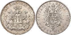5 Mark Hamburg Silver