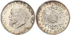 5 Mark Kingdom of Bavaria (1806 - 1918) Silver Ludwig III of Bavaria (1845 – 1921)