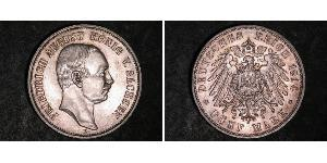5 Mark Kingdom of Saxony (1806 - 1918) Silver Frederick Augustus III of Saxony (1865-1932)