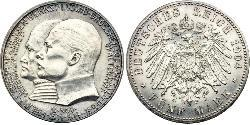 5 Mark Landgraviate of Hesse-Kassel (1567 - 1806) Silver Ernest Louis, Grand Duke of Hesse