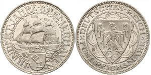 5 Mark Weimar Republic (1918-1933) Silver