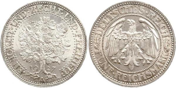 5 Mark Weimar Republic (1918-1933) / Germany Silver