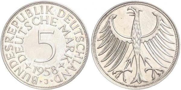 5 Mark West Germany (1949-1990) Silver