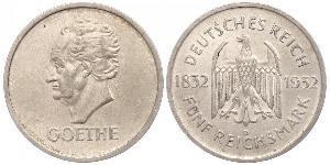 5 Mark / 5 Reichsmark República de Weimar (1918-1933) Plata