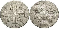 5 Ore Sweden Billon Frederick I of Sweden (1676 -1751)