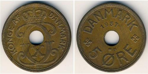 5 Ore Denmark Bronze Christian X of Denmark (1870 - 1947)
