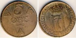 5 Ore Norway Bronze