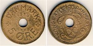 5 Ore Danimarca Bronzo Cristiano X di Danimarca (1870 - 1947)