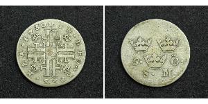 5 Ore Suecia Vellón Plata Federico I de Suecia (1676 -1751)