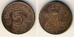 5 Ore Denmark  Margrethe II of Denmark (1940-)