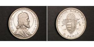 5 Pengo Kingdom of Hungary (1920 - 1946) Argento Stefano I d