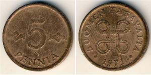 5 Penny Finland (1917 - ) Copper