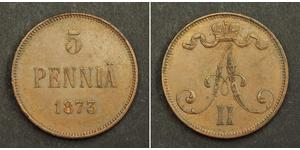 5 Penny Großfürstentum Finnland (1809 - 1917)  Alexander II (1818-1881)