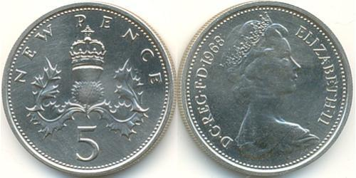 5 Penny   Elizabeth II (1926-)