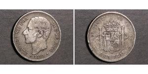5 Peseta Kingdom of Spain (1874 - 1931) 銀 Alfonso XII of Spain (1857 -1885)