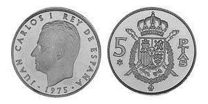 5 Peseta Francoist Spain (1936 - 1975) Copper/Nickel Juan Carlos I of Spain (1938 - )