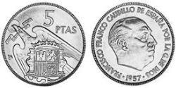 5 Peseta Kingdom of Spain (1976 - ) Copper/Nickel Juan Carlos I of Spain (1938 - )